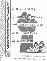 Front Cover of Zine, Illustrated by Yasmin Ahmed